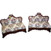 Empire Period Sofa or Bustle Benches, Matching Pair