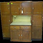 Oak, Sellers Brand Kitchen Work Center, Hoosier Type Cabinet