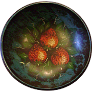 John Dunn [1954-2016] American Folk Art Hand-Painted 19thC Wooden Bowl Signed By The ...