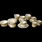 """Circa 1960 Shelley Fine Bone China """"Trio"""" Set In Harebell Design....26 Pieces"""