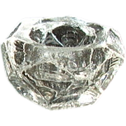 REDUCED Faceted Open Salt - Clear Thick Glass