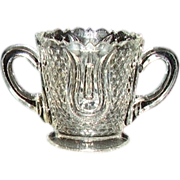 SOLD Crystal Double Handled Footed Toothpick Holder