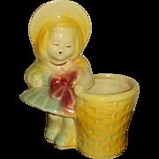 SALE USA Pottery 543 Girl with Basket Figural Planter