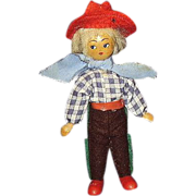SALE Polish Wooden Boy Doll ~ Movable Arms & Legs ~ Red Hat