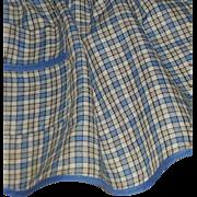 REDUCED Blue & White Plaid Handmade Apron