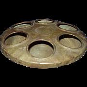 REDUCED Primitive Tin Chicken Feeder ~ 6 Holes