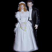 SALE Bride and Groom Wedding Cake Topper Bisque Porcelain 1988 MINT