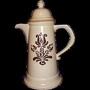 Pfaltzgraff Village Tall Coffee Pot ~ Made in USA