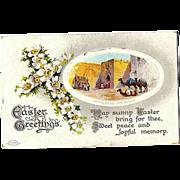1910 Birn Brothers Embossed Easter Post Card ~ Jaffa Gate, Jerusalem ~Series 2529