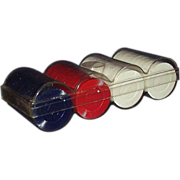 REDUCED Hoyle Plastic Poker Chips ~ Red, White, Blue Set in Case