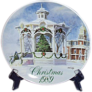 SALE Smucker's Christmas Plate 1989 David Coolidge Artwork