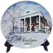 SALE Smucker's Christmas Plate 1988 David Coolidge Artwork