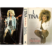 "REDUCED 1986 Tina Turner Autobiography ~ ""I, Tina - My Life Story"" by Tina Turner wi"