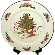 SALE Country Christmas Plate Vintage White Porcelain Japan