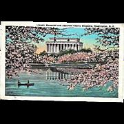 1927 Lincoln Memorial Washington, DC ~ Japanese Cherry Blossoms