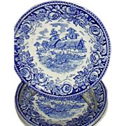 """British Anchor, Stratford, """"Scenes From The Shakespeare Country"""" Saucers"""