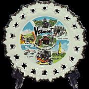 SOLD Vermont Souvenir Plate, 1980, Made in Korea