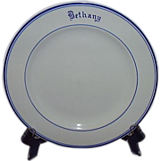 """SOLD Mayer China 1964 Restaurant Ware Dinner Plate """"Bethany"""""""