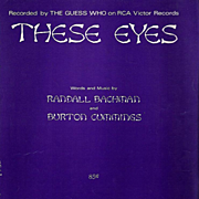 """1969 The Guess Who """"These Eyes"""" Sheet Music"""