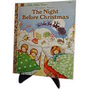 SALE The Night Before Christmas 1987 Little Golden Book