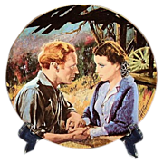SALE Gone With The Wind Scarlett and Ashley After The War Golden Anniversary Collector Plate T