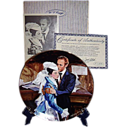 SALE Gone With The Wind A Question of Honor Golden Anniversary Collector Plate Seventh Issue W