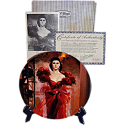 SALE Gone With The Wind Scarletts Resolve Golden Anniversary Collector Plate Eighth Issue WS G