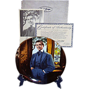 SALE Gone With The Wind Rhett Butler Frankly My Dear Golden Anniversary Collector Plate Ninth