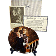 SALE Gone With The Wind Melanie and Ashley Golden Anniversary Collector Plate Tenth Issue WS G