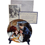 SALE Gone With The Wind Scarlett and Rhetts Honeymoon Golden Anniversary Collector Plate Twelf