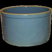 Blue Salt Glaze Stoneware Butter Crock