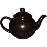 Black Porcelain Tea Pot ~ Made in Japan