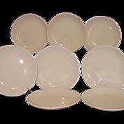 SALE Homer Laughlin Restaurant Ware Bread Butter Plates 8 All White Best