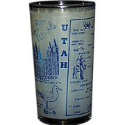 Utah Frosted Souvenir Glass The Beehive State