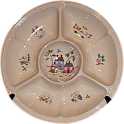 REDUCED Heartland  One Piece Chip And Dip Divided Server by International  China MINT