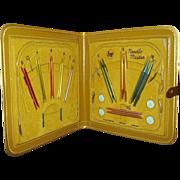 SALE Boye Needle Master Knitting Kit with Embossed Plastic Case 1950-60s