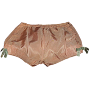 SALE PENDING Girls Pink Satin Underpants Tap Pants Bloomers Knickers 1920-30s