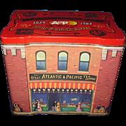 Great Atlantic & Pacific Tea Company 125th Anniversary Tin 1859 - 1984 Detailed Graphics