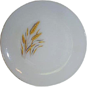 Fire King Wheat Pattern Dinnerware Plate Made 1962 to 1966