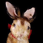 Large Early Post WWII Steiff PRE-Manni Begging Rabbit Hase Bunny ID US-Zone VOICE