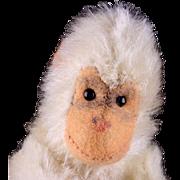 SALE Rare Tiny 5XJointed Steiff (very) White Jocko Chimpanzee Ape NOT MONKEY ID