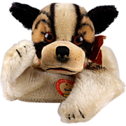 Rare Steiff Bully BULLDOG Puppy Hand Puppet ID Not After 1963