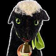 Tiny Sister RARE Steiff BLACK Lamby Lamb ID 1954-1956 ONLY