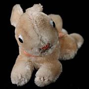 REDUCED '50s/'60s Tiny Steiff Lieg Hase Lying Rabbit Bunny 2 IDs Glass Eyes