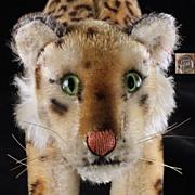 SOLD Rare Large '50s Steiff Stalking Leopard Wild Cat ID ROARS