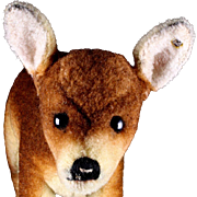 SOLD Rare and Gorgeous Early Post WWII Steiff WOOL PLUSH Mama Deer Doe Rehgeiss ID
