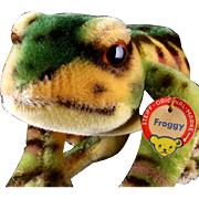 1960s Big Handsome and Colorful Steiff Mohair Froggy Frog ID a Real Prince and He ...