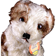 Rare Early Post-WWII Model Steiff Molly Puppy Dog All ID BARKS!