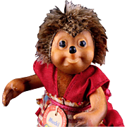 Tiny Sister Mucki Steiff Dressed Hedgehog Doll Mecki's Daughter and Macki's Sister All ...