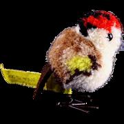 SALE PENDING Teeny Tiny Earliest Post WWII Model Steiff Wool Miniature Colorful Finch Buntfink
